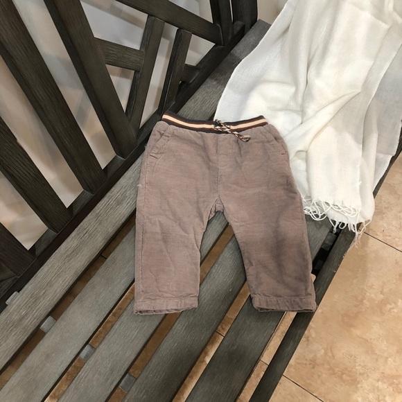 "Zara Baby Boy  pants  6/9 months.  74 cms/29"""